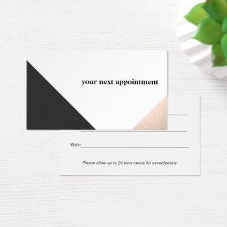 Nam de Gouden, Zwarte Witte Geometrische Benoeming Visitekaartjes