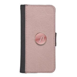 Nam de Roze Portefeuille van het Monogram van de iPhone 5 Portemonnee Hoesje