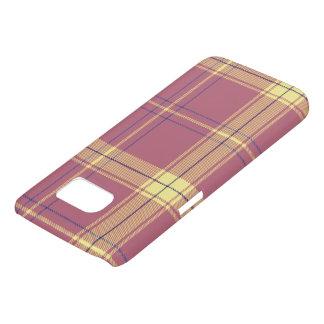 Nam diep met Gele Plaid toe Samsung Galaxy S7 Hoesje