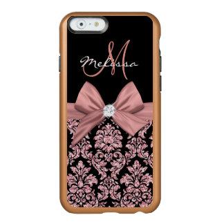 Nam goud schitteren Zwart Damast, Boog, Diamant Incipio Feather® Shine iPhone 6 Hoesje