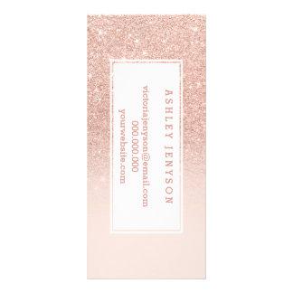 Nam gouden faux schitteren roze ombre reclamekaart