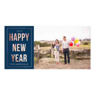 Nam Gouden Gelukkig Nieuwjaar Faux schitteren op Kaart