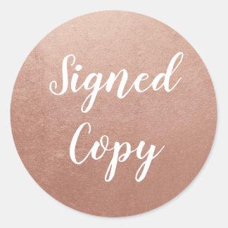 Nam Gouden Ondertekend Exemplaar toe Ronde Sticker