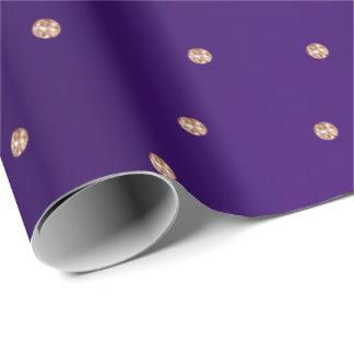 Nam het Gouden Kleine Paarse Stip van Kristallen Cadeaupapier