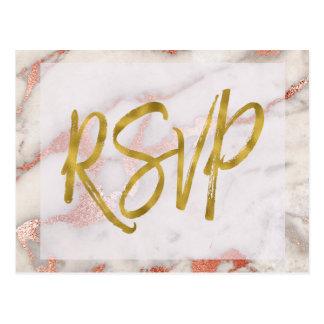 Nam het Gouden Marmeren Antwoord van de Briefkaart