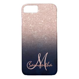 Nam het gouden ombre blauwe monogram van het iPhone 8/7 hoesje