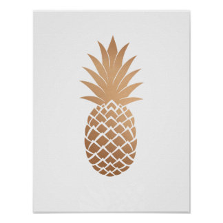 Nam het Gouden Poster van de Ananas van het Koper