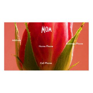Nam het Heldergroene Roze van het mamma de Kaart v Visitekaartjes