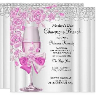 Nam het Mooie Roze van het moederdag de Brunch van Kaart
