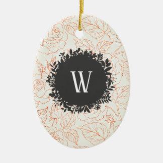 Nam het Naadloze Patroon van de Schets met Keramisch Ovaal Ornament