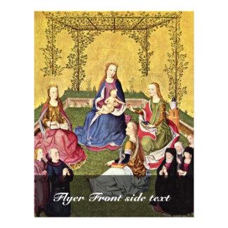 Nam Mary in Den Haag met Heiligen en Donors met K Flyer 21,6 X 27,9 Cm