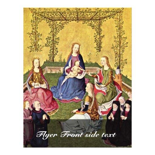 Nam Mary in Den Haag met Heiligen en Donors met K  Folder Ontwerp