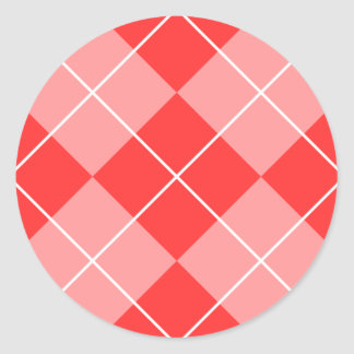 Nam & Roze Argyle toe Ronde Sticker