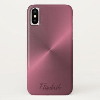 Nam Roze Metaal kijken toe, Gepersonaliseerd met iPhone X Hoesje