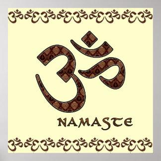 Namaste met Om Bruin Symbool en Room Poster