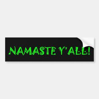 Namaste Y'All - de Sticker van de Bumper van de