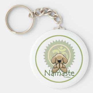 Namaste - yoga keychain basic ronde button sleutelhanger