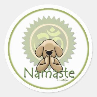 Namaste - yogastickers ronde sticker