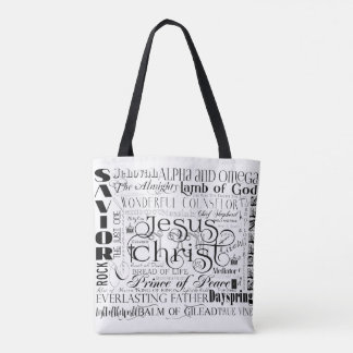 Namen van het Canvas tas van Jesus Typography
