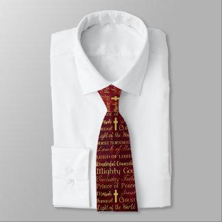 Namen van Jesus Red Tie Custom Stropdas