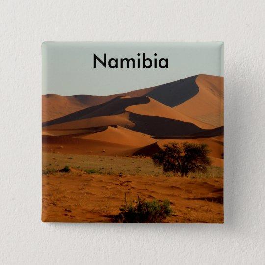 Namibie magneet vierkante button 5,1 cm