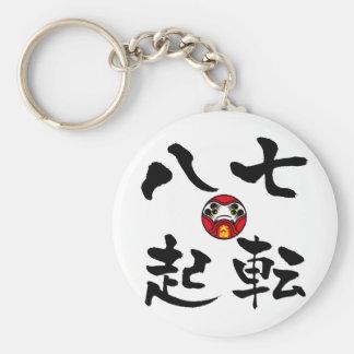 """""""Nanakorobi Yaoki"""" KANJI Basic Ronde Button Sleutelhanger"""