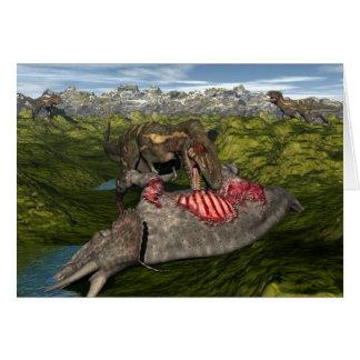 Nanotyrannus die dode triceratops eten briefkaarten 0