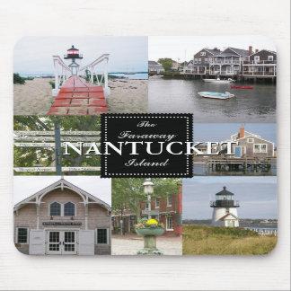 Nantucket de Afgelegen Collage Mousepad van het Ei Muismat