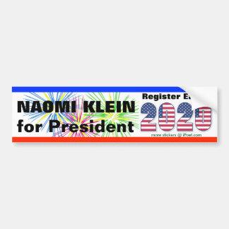 NAOMI KLEIN VOOR PRESIDENT 2020 - BUMPERSTICKER