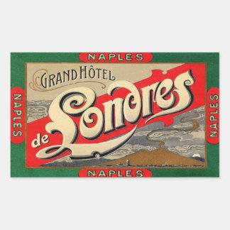 Napels (Groot Hotel van Londen) Rechthoekige Sticker