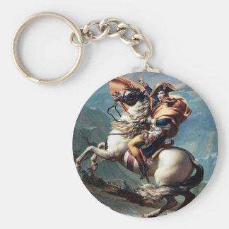 Napoleon die de Alpen Keychain kruisen Sleutelhanger