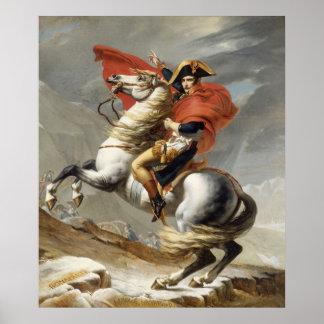 Napoleon die de Alpen kruisen - Jacques-Louis Davi Posters