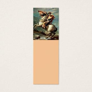 Napoleon die de Alpen kruisen Mini Visitekaartjes