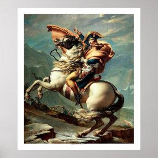 Napoleon die de Alpen kruisen Poster