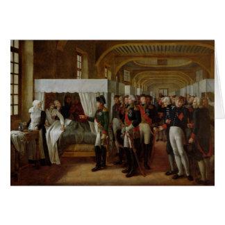 Napoleon die het Ziekenhuis van Invalides bezoeken Wenskaart