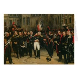 Napoleon I het Bieden Afscheid aan Keizer Wenskaart