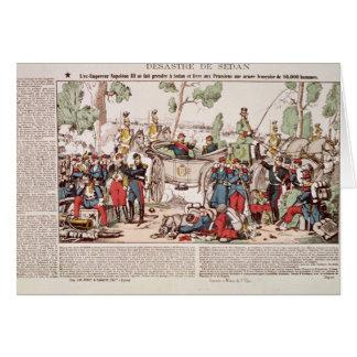 Napoleon III komt bij Sedan aan Wenskaart