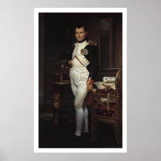 Napoleon in zijn Studie door Jacques Louis David Poster