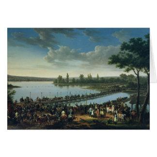 Napoleon vóór de Slag van Wagram Wenskaart