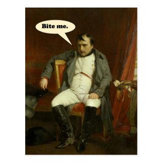 Napoleon zegt:  Bijt me Briefkaart