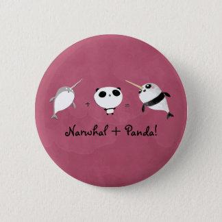 Narwal plus Panda! Ronde Button 5,7 Cm