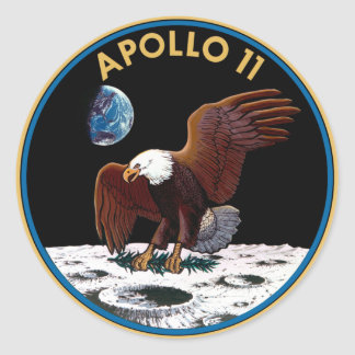 NASA Apollo 11 Logo Ronde Stickers