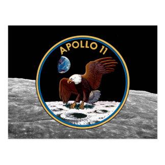 NASA Apollo 11 Maan die de MaanInsignes van het Briefkaart