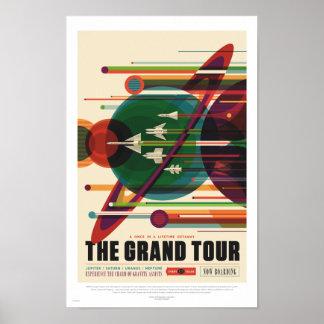 NASA - de Grote Reis - Retro Poster van de Reis