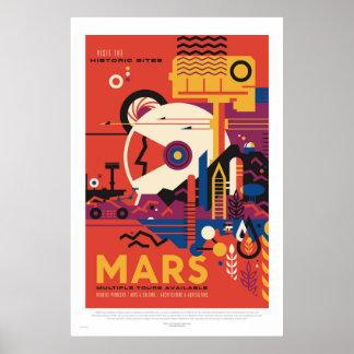 NASA - Retro Poster van de Reis van de Reis van