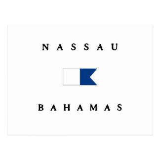 Nassau Alpha- de Bahamas duikt Vlag Briefkaart