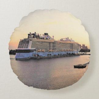 Nassau de Dageraad van de Haven met het Schip van Rond Kussen