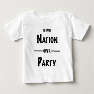 Natie over de giftcollectie van de Partij Baby T Shirts