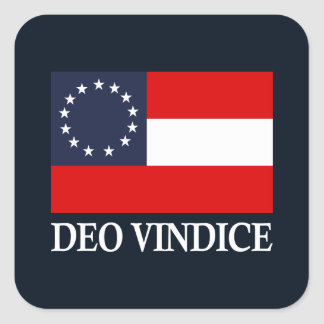 Nationale CSA eerste (Deo Vindice) Vierkante Sticker