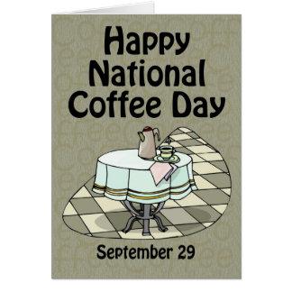 Nationale Koffie Dag 29 September Kaart